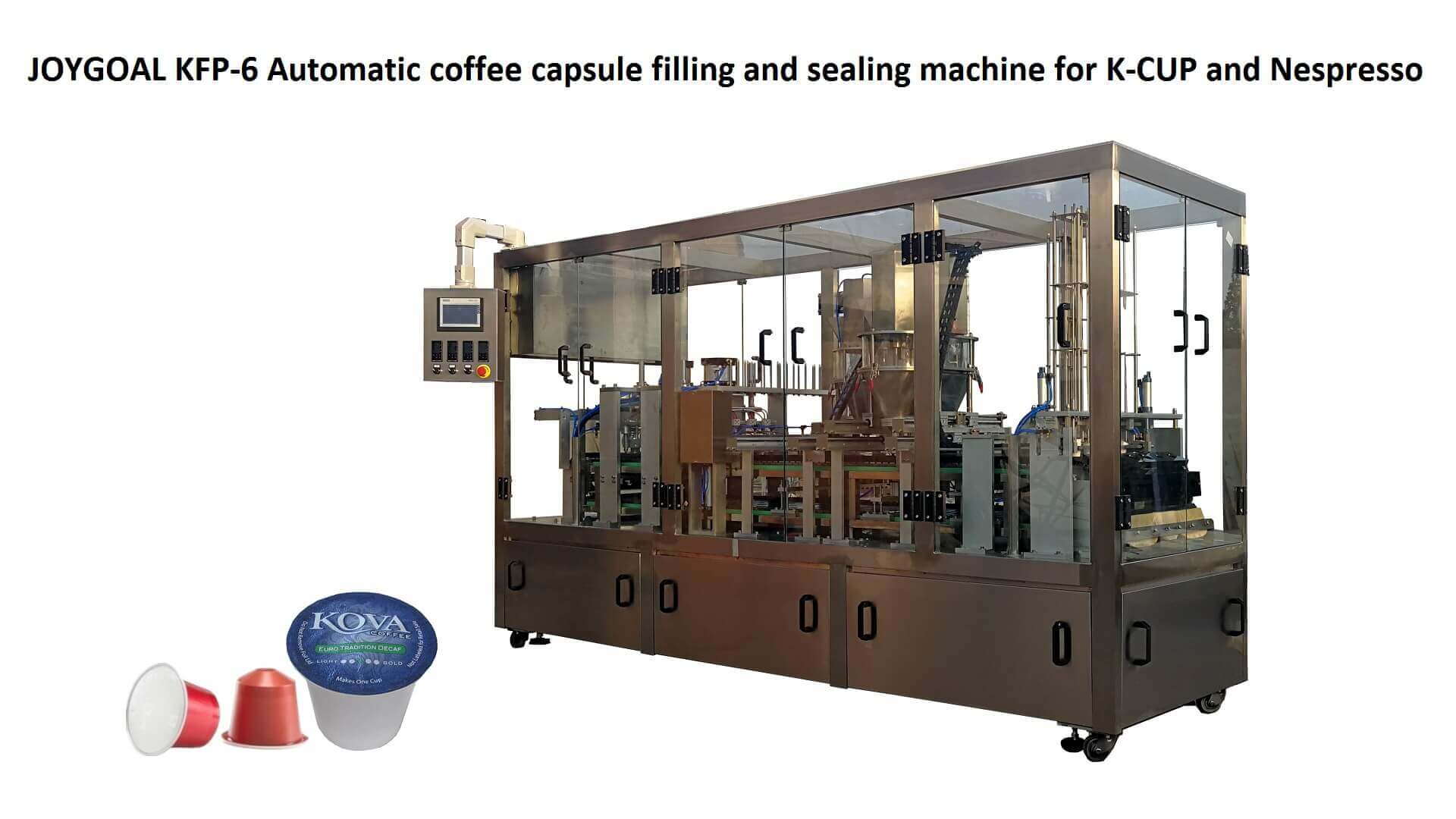 August 12, 2019,JOYGOAL KFP-6 Automatic coffee capsule filling and sealing machi