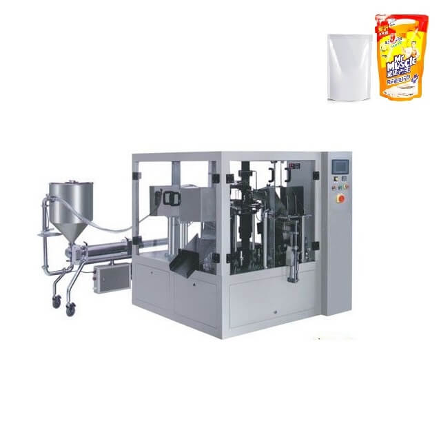 Automatic rotary bag packing machine for cream