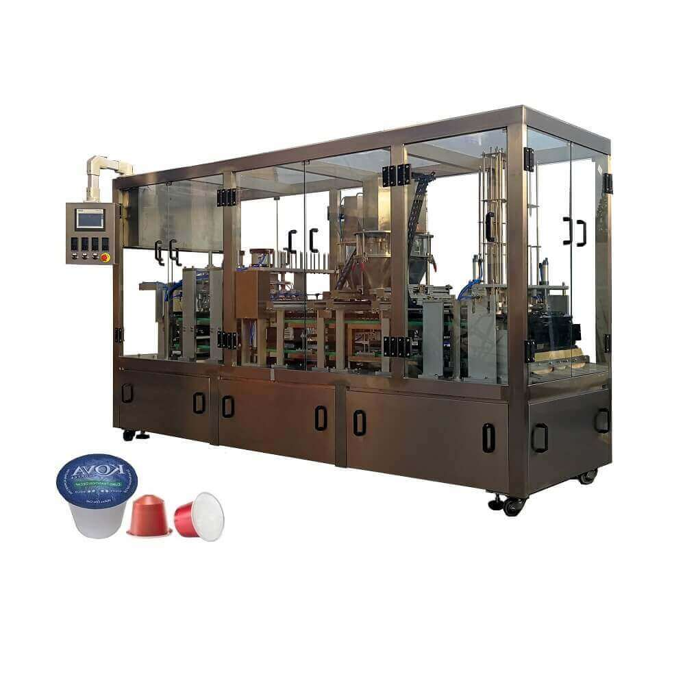 KFP-6 Automatic coffee capsule filling and sealing machine for K-CUP&Nespresso