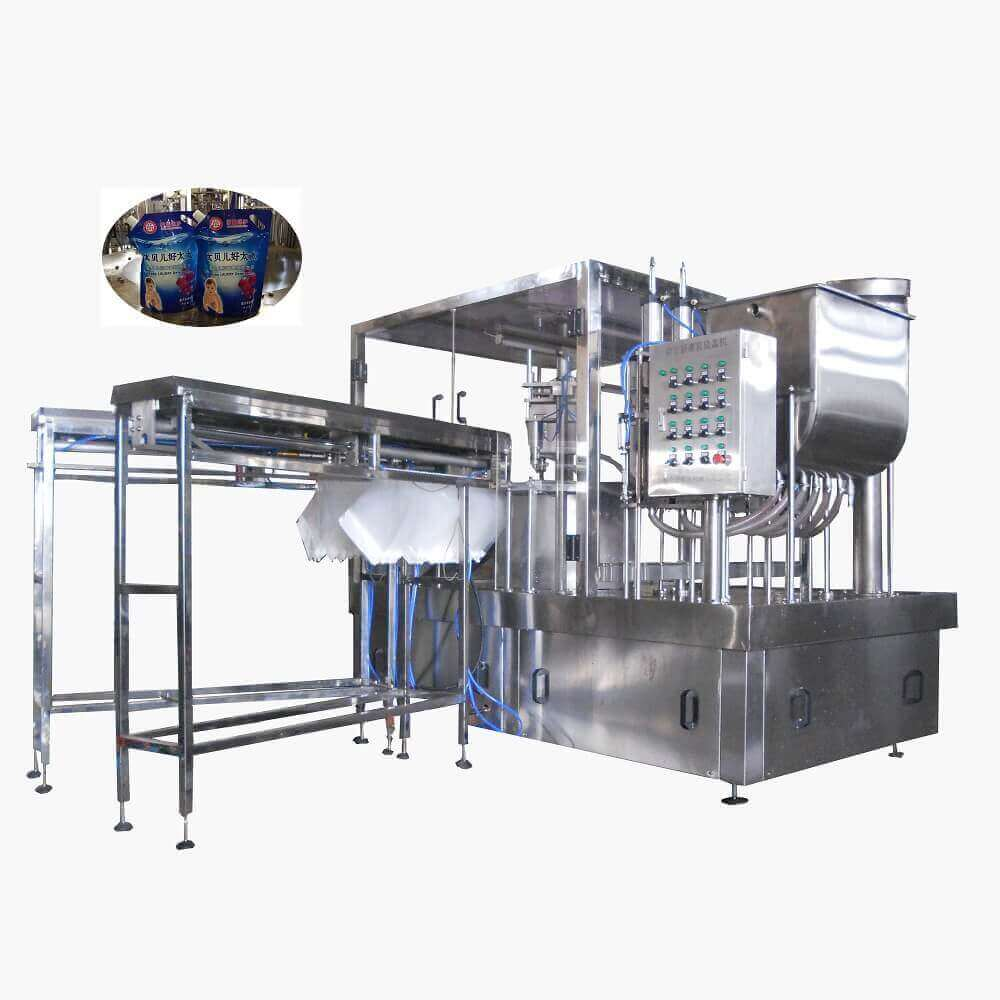 ZLD-2A Automatic stand up pouch filling and cap-screwing machine for 2000ml by thrice filling