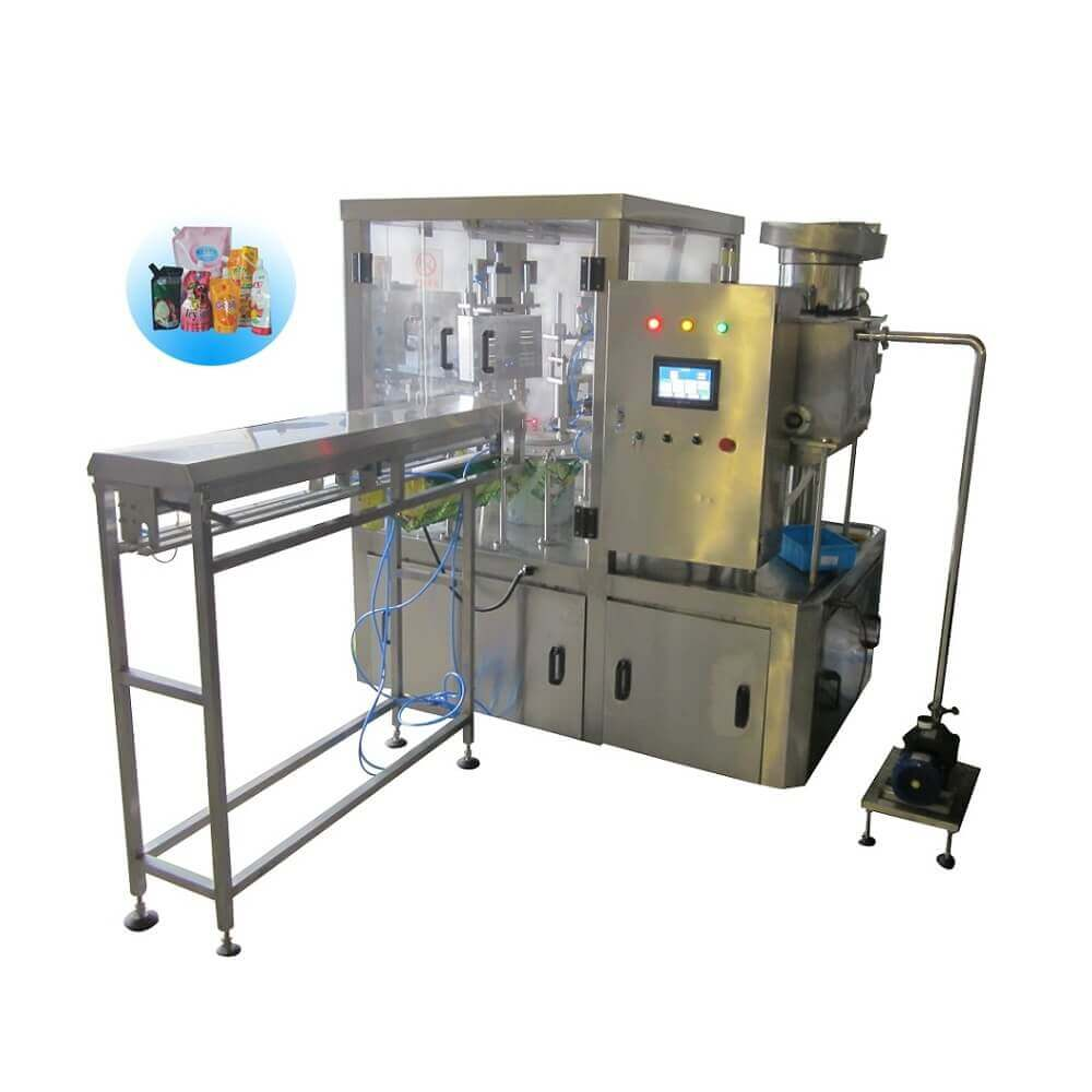 ZLD-2A Automatic stand up pouch filling capping machine with flushing air