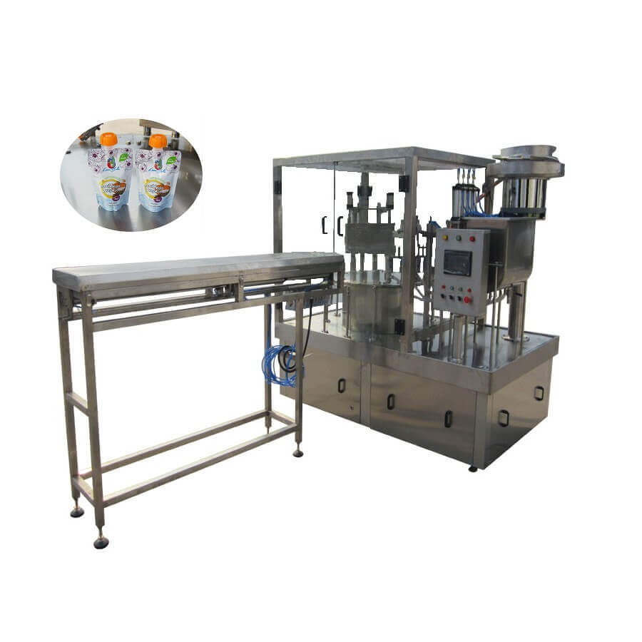 ZLD-4A Automatic stand up pouch filling capping machine for special caps